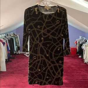 Michael Kors Black and Gold Tunic